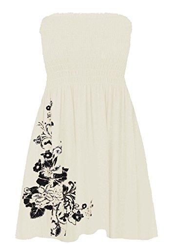Janisramone Damen Kleid * Einheitsgröße Weiß