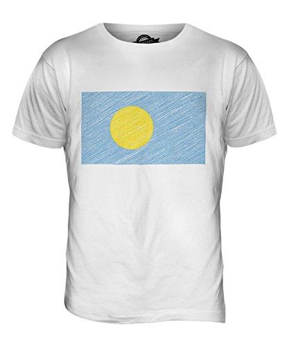 CandyMix Palau Kritzelte Flagge Herren T Shirt Weiß