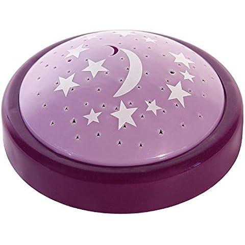 Lumino da notte viola, proiezione di stelle,