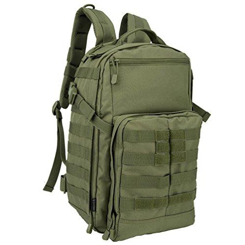 Oleader tattico militare molle zaino impermeabile da assalto combattimento dell' esercito Bug out bag per outdoor trekking campeggio trekking caccia, Green
