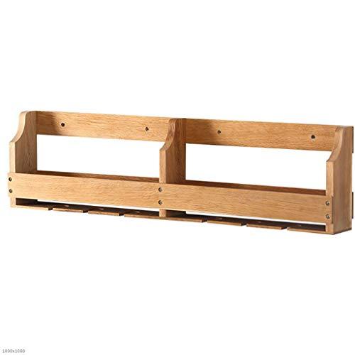 HCYTPL Holzwand-dekoratives Display Rahmen Massivholz-Weinregal Lagerung Rack,90CM
