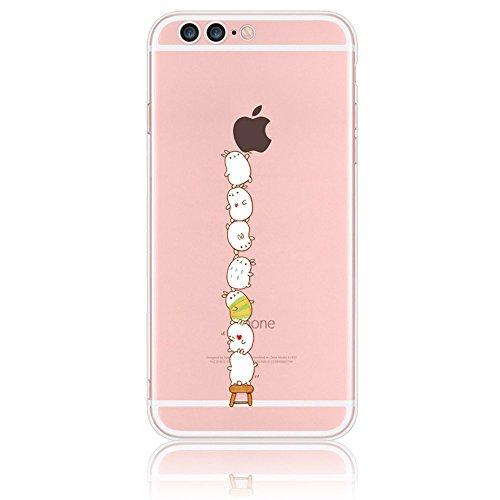 Sunroyal iPhone 7 Plus 5.5 Zoll Kreativ Logo Hülle Case Transparent Handyhülle Schutzhülle Durchsichtig TPU Crystal Clear Case Backcover Bumper Slimcase Bildserie Weich Silikon Schutzhülle Anti- Stoß, Pattern 06