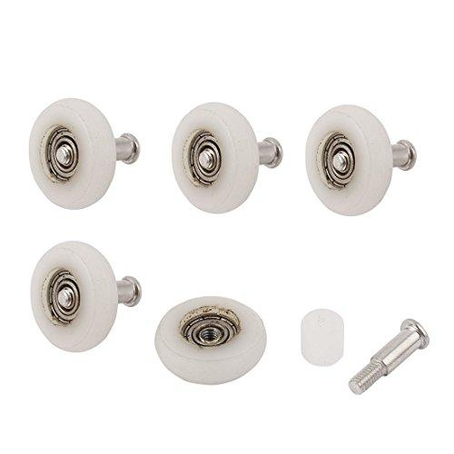 sourcingmap® 23mm dia rodillo Casa de Baño de puerta corredera puerta de la ventana de la rueda 5pcs