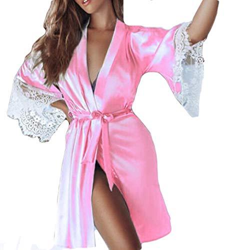Dessous Lingerie Damen,Yanhoo Heiße Mode Unterwäsche Mode Frauen Look Sexy aus Clubwear Kleid Nachthemd Sexy Unterwäsche Nachthemd (S, Rosa-B) (Schwarz Und Heiß Rosa Blume Mädchen Kleider)