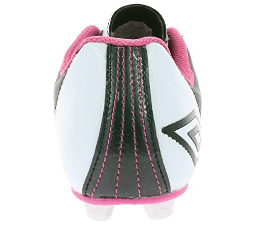 Umbro Corsica Engage, Scarpe da calcio bambine Nero (Black / Pink)