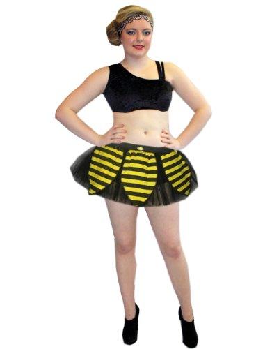 (Insanity Bumble Bee Tutu Skirt (Free Size (6 to 14), Schwarz & Gelb))