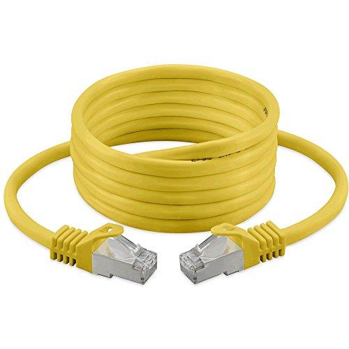 2M - CAT.7 Ethernet Gigabit Lan Netzwerkkabel (RJ45) | 10/100 / 1000Mbit / s - Für das Streaming | SUHD Tv | IPTV | Desktop-PC | Servers | Laptops | Netzwerkdrucker - Halogen frei / 10 Gbs / Qualität | kompatibel zu CAT.5 / CAT.5e / CAT.6 | Switch/Router/Modem/Patchpannel/Access Point/Patchfelder |