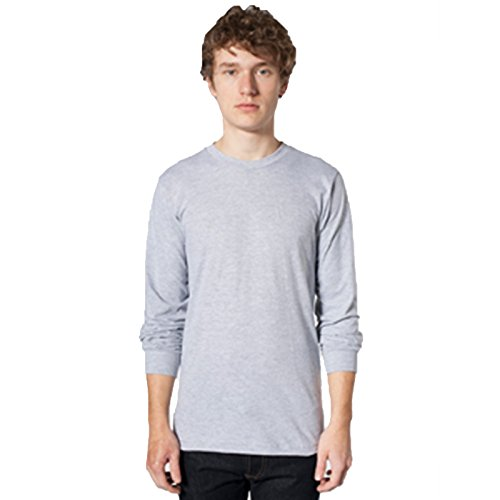 American Apparel -  T-shirt - Uomo Heather Grey X-Large