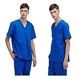OPPP Abbigliamento medico Camice da Uomo a Maniche Corte per Uomo e Donna Camice da Sala operatoria Camici Chirurgici Mani di Medici Tute per Sala operatoria Medici