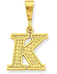 14k Yellow Gold Initial Charm - Measures 25.7x20mm - Initial Options: A B C D E F G H I J K L M N O P R S T V W