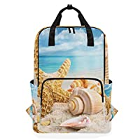 LUPINZ Starfish And Seabell Backpack Durable Soulderbag Bookbag Back to School