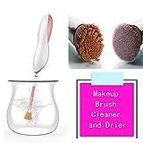 Nettoyant et séchoir à maquillage électriques, nettoyez et séchez instantanément...