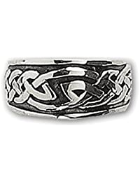 etNox-Ring ''Keltischer Knoten'' 925 Silber XL (R155L)