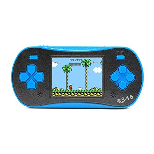 6,3cm LCD tragbar Handheld Video Game Konsole Retro Game-Player wurde in 260Spiele tragbar Spiel Konsole Beste Geschenk für Kinder (3x AAA) Akku Unterstützung AV-Kabel zu TV