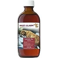 barf-alarm Premium Lachsöl für Hunde mit Omega 3 und Omega 6 Fettsäuren 1 Liter – Fischöl für den Hund 1000ml – Welpen, Adulte, Senioren & Sporthunde