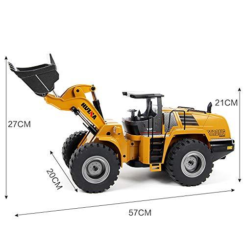 RC Auto kaufen Baufahrzeug Bild 3: s-idee® 18168 Metall Radlader 1:14 Profi mit Sound und Licht die Cast rc Modell Huina 583 1583*