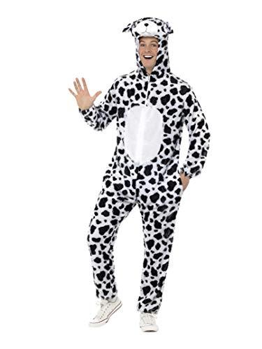 Dalmatiner Kostüm enthält Jumpsuit mit Kapuze, Large (Dalmatiner Kostüm Für Erwachsene)