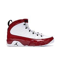 Jordan Air 9 Retro Basketballschuhe, Weiá (Weiß/Gym Rot-Schwarz), 40 EU