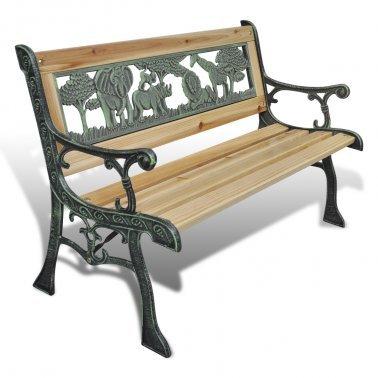 Classique Long Siège pour enfants avec motif animal–Apporte un style vintage à votre jardin–Bench Idéal pour votre enfant à s'asseoir par E-Commerce