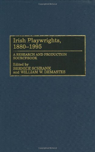 Irish Playwrights, 1880-1995: A Research and Production Sourcebook (Century Schrank 19th)
