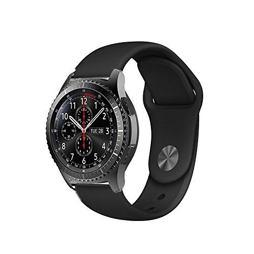 BarRan Vivoactive 3 Armband, Fantek Weich Silikon atmungsaktiv Sport Band Wasserdicht Alternative UhrenArmbandd Armbandd für Garmin Vivoactive 3 (Black)