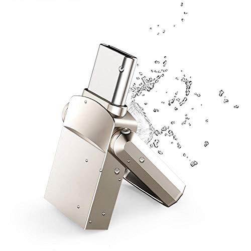 CHJL USB-Stick Flash-Speicher U-Disk USB3.1 Typ C Android-Telefon wasserdicht Doppelschnittstelle 16/32/64 / 128GB Speichererweiterungslaufwerk USB Speicherstick (Kapazität : 32GB) - 4 Gb Speicherplatz Auf Der Festplatte