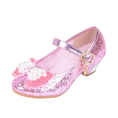 030ce5bea9e79 Yy.f YYF Fille Ballerine Chaussures à Talon à Déguisement Princesse ...