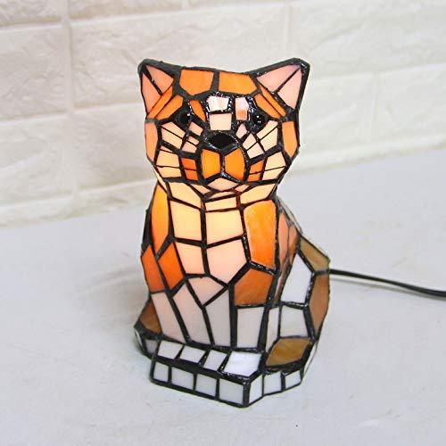 LJ Leben Erhellen Europäische Tiffany Stil Led Kreative Tier Modellierung Tischlampe Persönlichkeit Schlafzimmer Kinder Glas Schreibtischlampe Wohnzimmer Nachtlicht -