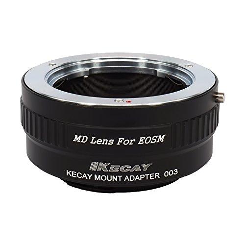 KECAY® Objektiv Mount Adapter Ring Minolta MD / MC / SR Rokkor 35mm SLR Objektiv Adapterringe auf Canon EOS M (EF-M) Kamera EOS M, M2, M3, M10 (35mm Minolta Kamera)