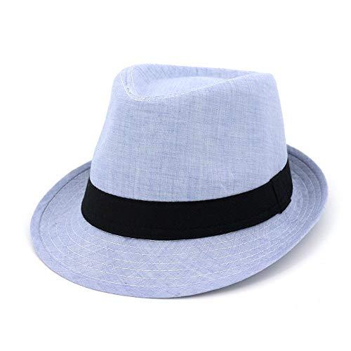 Giow Frauen Sommer Stroh Sonnenhut Frauen oder Männer Fedora Short Brim Crushable Jazz Hut Für Frauen Damen Mädchen (Farbe: Lila) (Mädchen Lila Fedora)