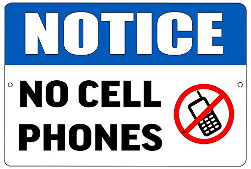 Sary buri Notice Warning No Cell Phone Allowed Business Large Restaurant Wandkunst Garage Club Bar Dekoration