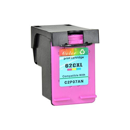 Nineleaf Wiederaufbereitet 62XL 62 XL Druckerpatronen Kompatibel f¨¹r HP Envy 5540 5640 7640, OfficeJet 5740 5742 5744 5745 5746 e-All-in-One, Color Laserjet CP4025dn CP4025n Drucker (1 Dreifarbig)