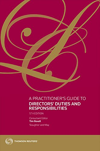 A Practitioner's Guide to Directors' Duties and Responsibilities (City Financial)
