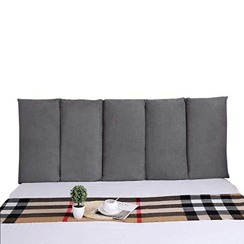 Cuscini jxq tatami bed testate direttamente contro il muro anti-collisione borsa morbida doppio letto testate lavabile in tessuto schienale, 3 colori e 8 misure