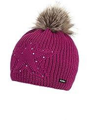 Eisbär Chantal Lux Crystal–Gorro, unisex, Chantal Lux Crystal, deep pink/AF greybrown, S, M, L o XL