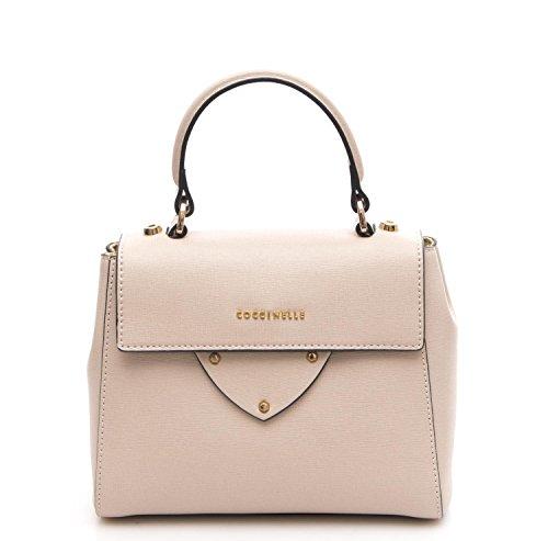Coccinelle Borsa Donna Mini Bag Pelle Saffiano Seashell