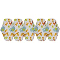 Bulary 5pcs Almohadillas Sanitarias Lavables Almohadillas Menstruales Lavable Toalla Sanitaria Toallitas Enstrual Paño Reutilizable Almohadillas Menstruales