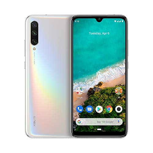 "Xiaomi Mi A3 - Android One, AMOLED de 6,088""(Cámara Frontal de 32 MP, Trasera de 48 + 8 + 2 MP, 4030 mAh, Jack de 3,5 mm, Qualcomm Snapdragon 665 2,0 GHz, 4 + 64 GB), Blanco Puro[Versión española]"