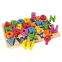 Tidlo Wooden Educational ABC Board - Chunky Alphabet Puzzle