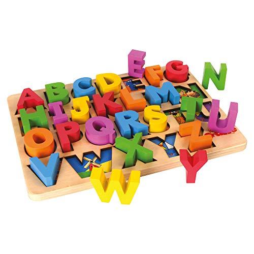 Tidlo - Gioco ad Incastro in Legno con Le Lettere dell'alfabeto
