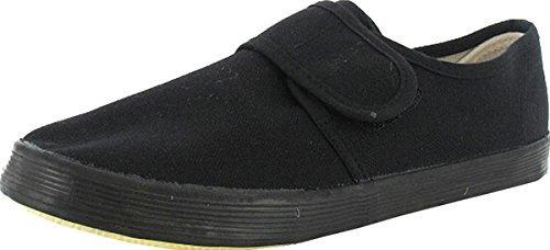 UNIFORME ECOLE ENFANTS PE TENNIS Noir Gym CLASSE simple fermeture chaussures plates