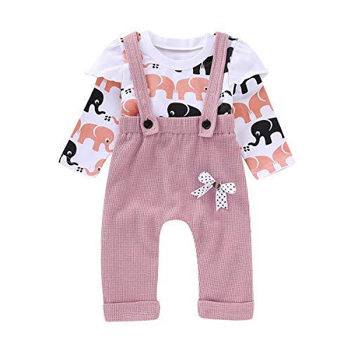 HaiQianXin 2pcs / Set Baby Toddler Girl Elefante Top Shirt & Bow...