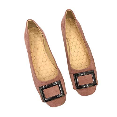 Frauen Wohnungen Square Toe Slip on Flache Schuhe Square Metall Loafers Komfortable Ballerinas Schuhe