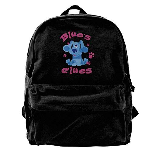 Canvas Backpack Blue's Clues Dog Rucksack Gym Hiking Laptop Shoulder Bag Daypack for Men Women -