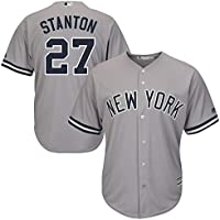 Personalizada Camiseta Deportiva Baseball Jersey Major League Baseball # 27 Stanton New York Yankees,Gray,Men-L
