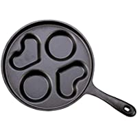 Roheisen-Minipan-Antihaftbratpfannenomelette Ungestrichener Frühstückseimehlkloßtopf