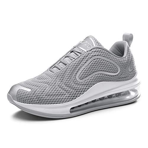 Damen Herren Laufschuhe Sportschuhe Turnschuhe Trainers Running Fitness Atmungsaktiv Sneakers(Grau,Gr??e 43)