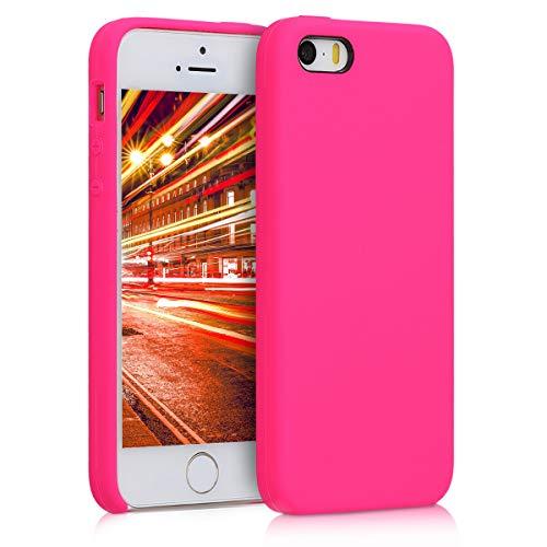 kwmobile Apple iPhone SE / 5 / 5S Hülle - Handyhülle für Apple iPhone SE / 5 / 5S - Handy Case in Neon Pink