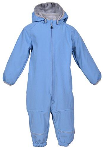 mikk-line mikk-line Baby-Jungen Regenjacke Softshellanzug (Wassersäule 8000), Blau (Parisian Blue 209), 80