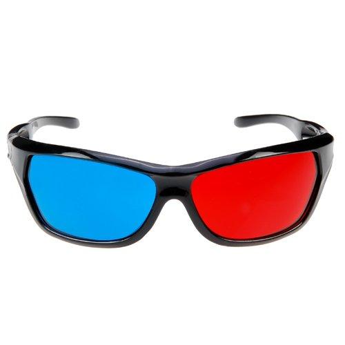 TOOGOO(R) 2x Rot und Blaugruen Brille Glaeser Passend fuer Korrektionsbrillen fuer 3D-Filme, Spiele und TV (1x Clip On, 1x Anaglyph-Stil)